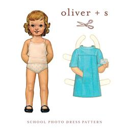 Oliver + S School Photo Dress Pattern Sizes 5-12