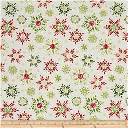 Art Loft Holiday Flair Metallic Snowflakes Cream