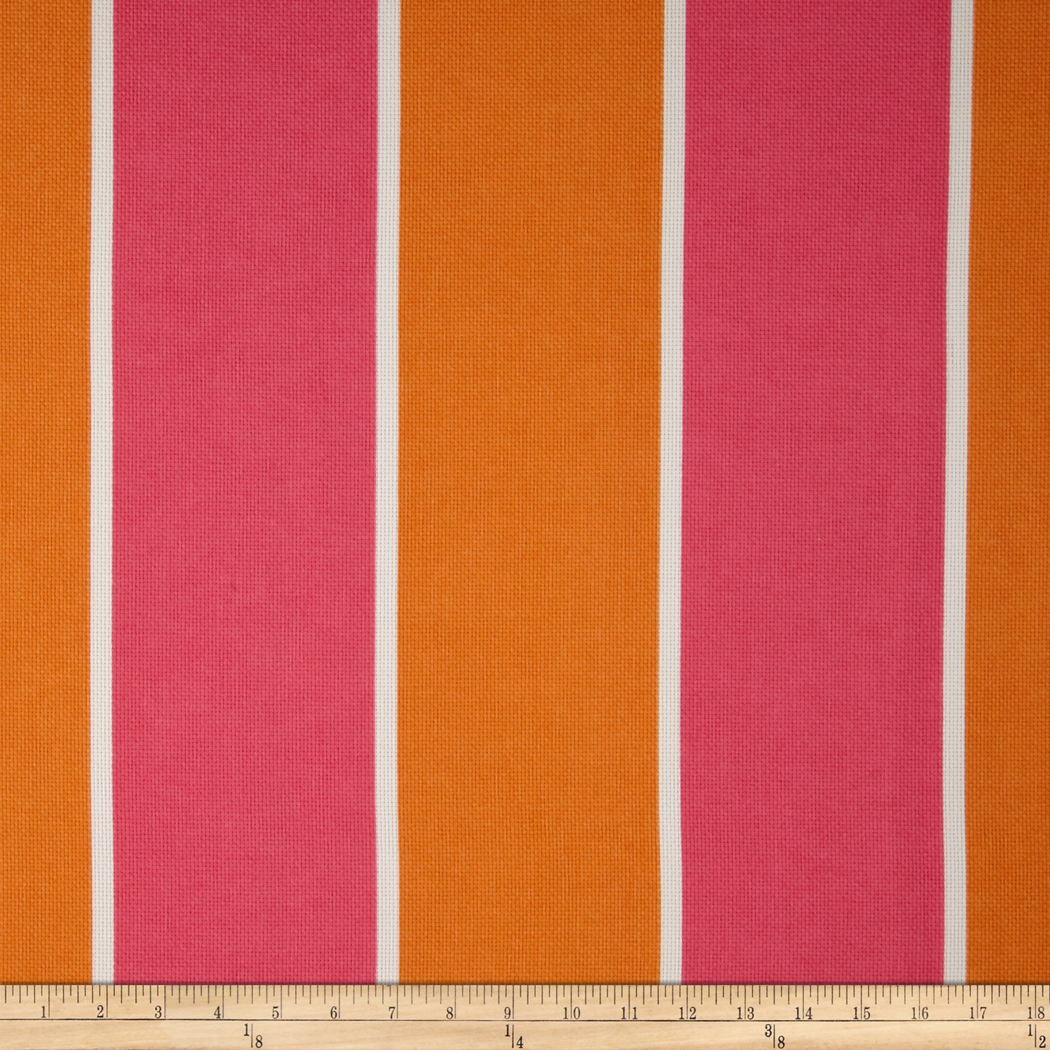P Kaufmann Indoor/Outdoor Cabana Stripe Melon Fabric
