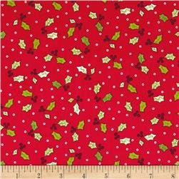 Maywood Studio Jingle All The Way Holly & Berries Red