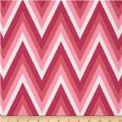 Moda Color Me Happy Ikat Chevron Pink