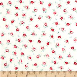 Lecien Flower Sugar Small Rose Toss White