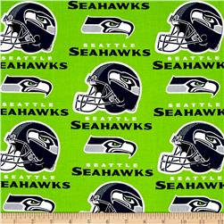 NFL Cotton Broadcloth Seattle Seahawks Green