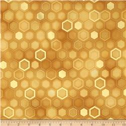 Winter's Grandeur Metallic Honeycomb Gold
