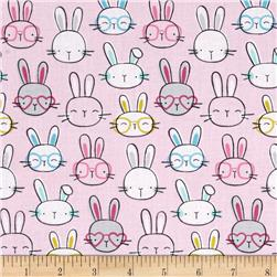 Timeless Treasures Cutie Pie Bunny Heads Pink