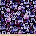 Kanvas Bloom With A View Pansy Persuasion Black