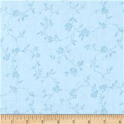 "108"" Wide Quilt Back Petite Fleur Light Blue"