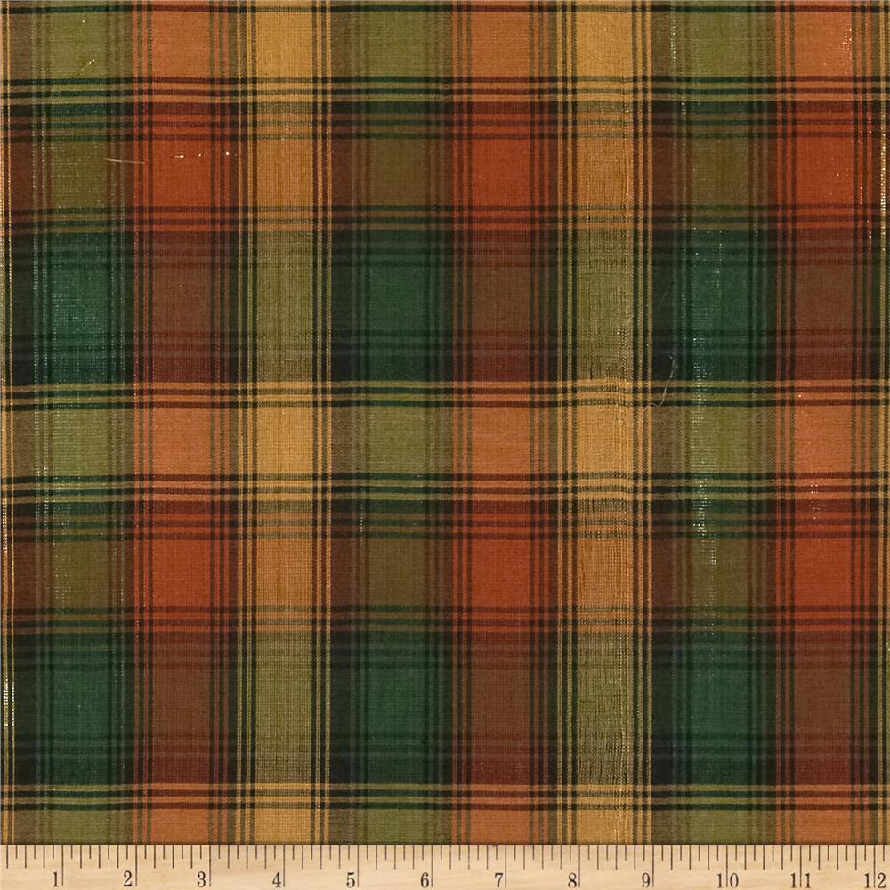 Holiday Blitz Large Plaid Rust/Green