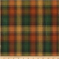 Holiday Blitz Large Plaid Rust/Green Fabric