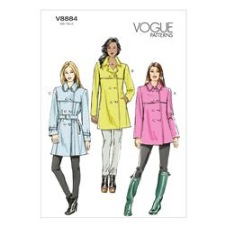Vogue Misses' Coat and Belt Pattern V8884 Size A50