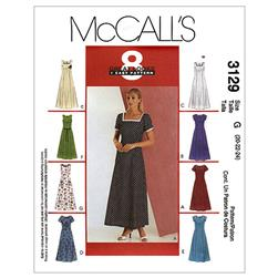 McCall's Misses'/Miss Petite Dress Pattern M3129 Size 0B0