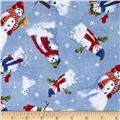Snow Day Scenic Snowmen Allover Light Blue