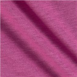 Jersey Cotton Slub Knit Dark Orchid