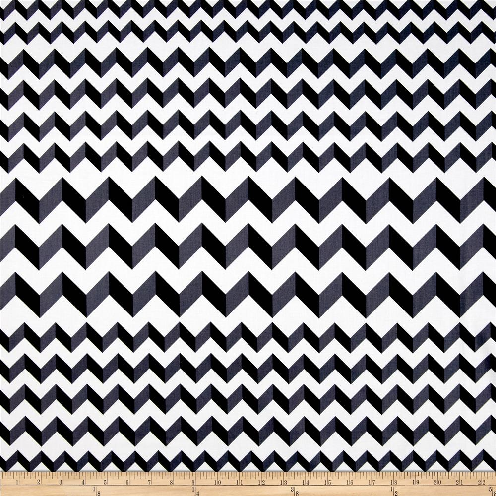Crinkle Stripe White/Black