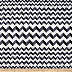 Crinkle Stripe White/Black Fabric