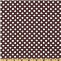 Camelot Flannel Polka Dots Brown