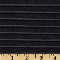 Ottoman Stripe Knit Charcoal Grey Fabric