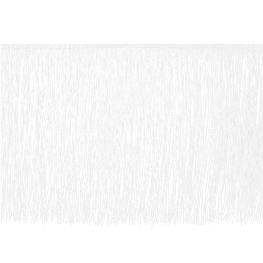 "10"" Chainette Fringe Trim White"