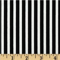 Black & White Expressions Awning Stripe Black/Ivory Fabric