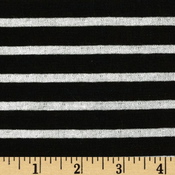 Designer Yarn Dyed Stripe Double Pique Jersey Knit