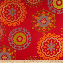 Richloom Arial Upholstery Jacquard Tomato Fabric