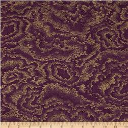 Kotori Metallic Wave Texture Berry/Gold Fabric