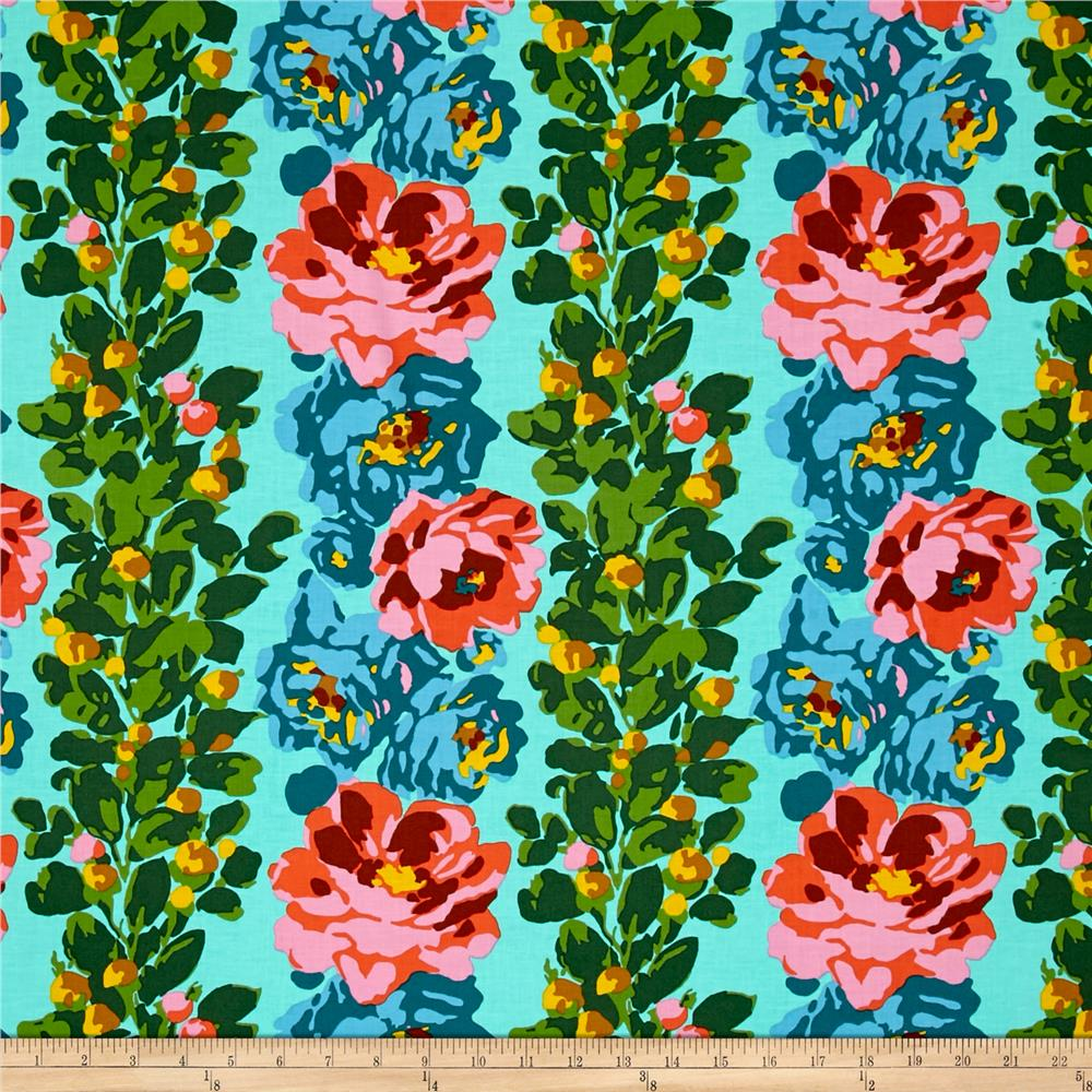 Amy Butler Eternal Sunshine Rose Vine Lake Fabric By The Yard