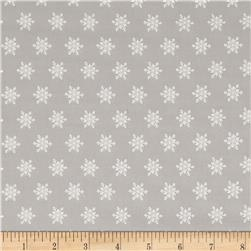 Moda Sugar Plum Christmas Snow Flakes Mouse Grey