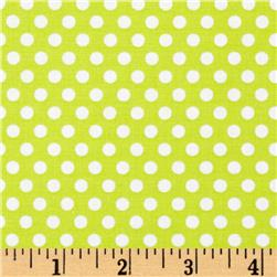 Michael Miller Happy Tones Kiss Dot Kiwi Fabric