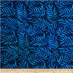"Timeless Treasures 106"" Batik Quilt Back Sea Fern Royal"