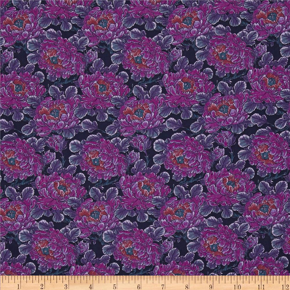 Liberty Of London Tana Lawn Daydream Dark Blue/Magenta