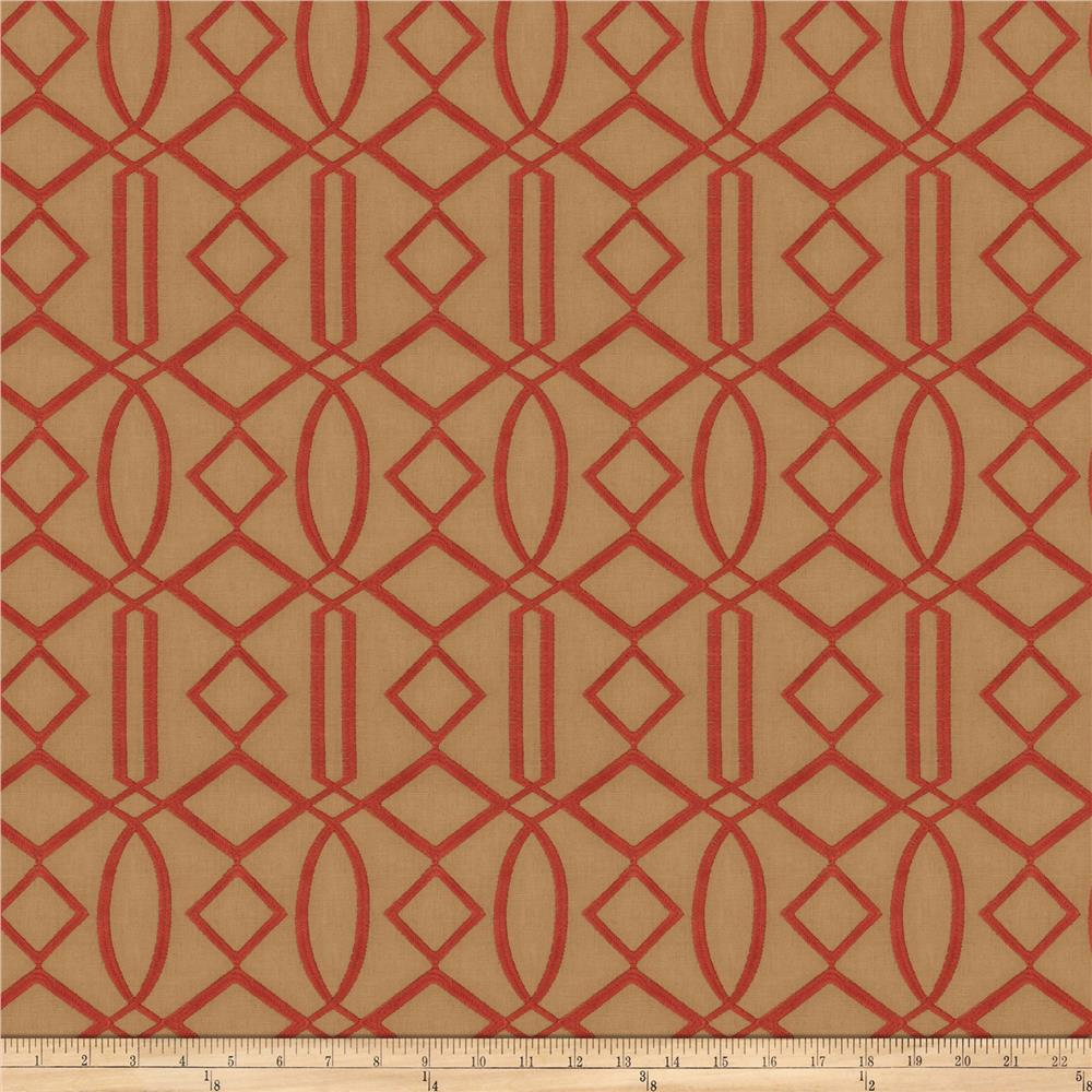 Isabelle De Borchgrave Egyptian Lattice Linen Blend Canyon