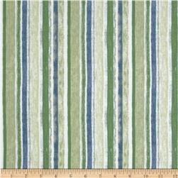 A New Leaf Stripe Jade Fabric
