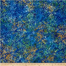 Wilmington Batiks Floral Dots Blue