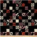 Cotton + Steel Clover Canvas Plaza Tiles Midnight