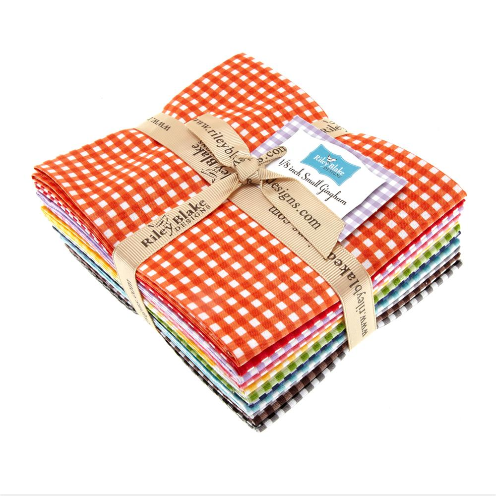 Riley Blake Basics Small Gingham Fat Quarter Assortment