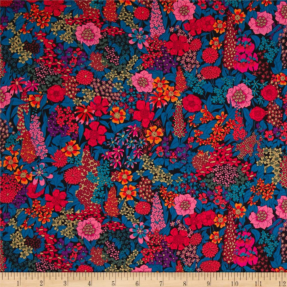Liberty Fabrics Tana Lawn Ciara Orange Discount Designer
