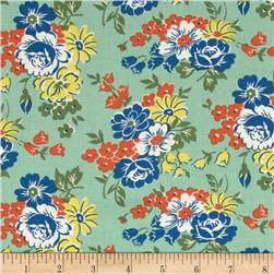 Fall Frolic Large Floral Seafoam