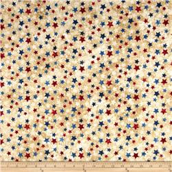 Stars & Stripes Flannel Stars Beige