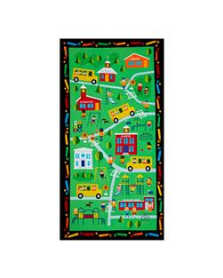 Timeless Treasures School 24''  Panel Green