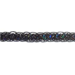 "1/2"" Sequin Braid Cord Trim Black"