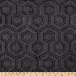 Premier Prints Embossed Geo Cuddle Black