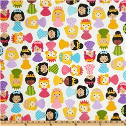 Girlfriends Little Girls Bright Pink/White Fabric
