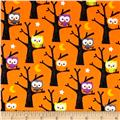 Riley Blake Ghouls & Goodies Owl Orange