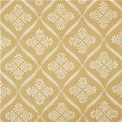 Moda Wintergreen Ribbon Damask Oatmeal