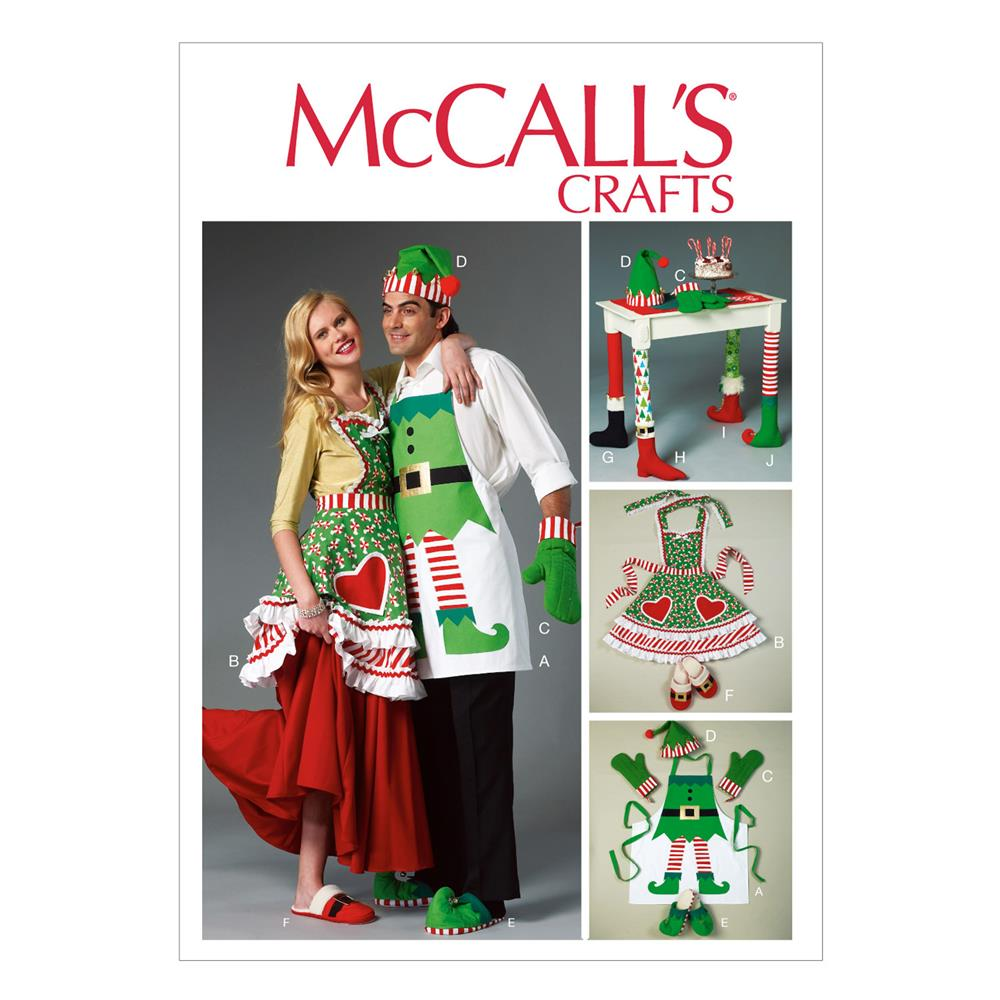McCall's Aprons, Oven Mitts, Hat, Slippers, and Table