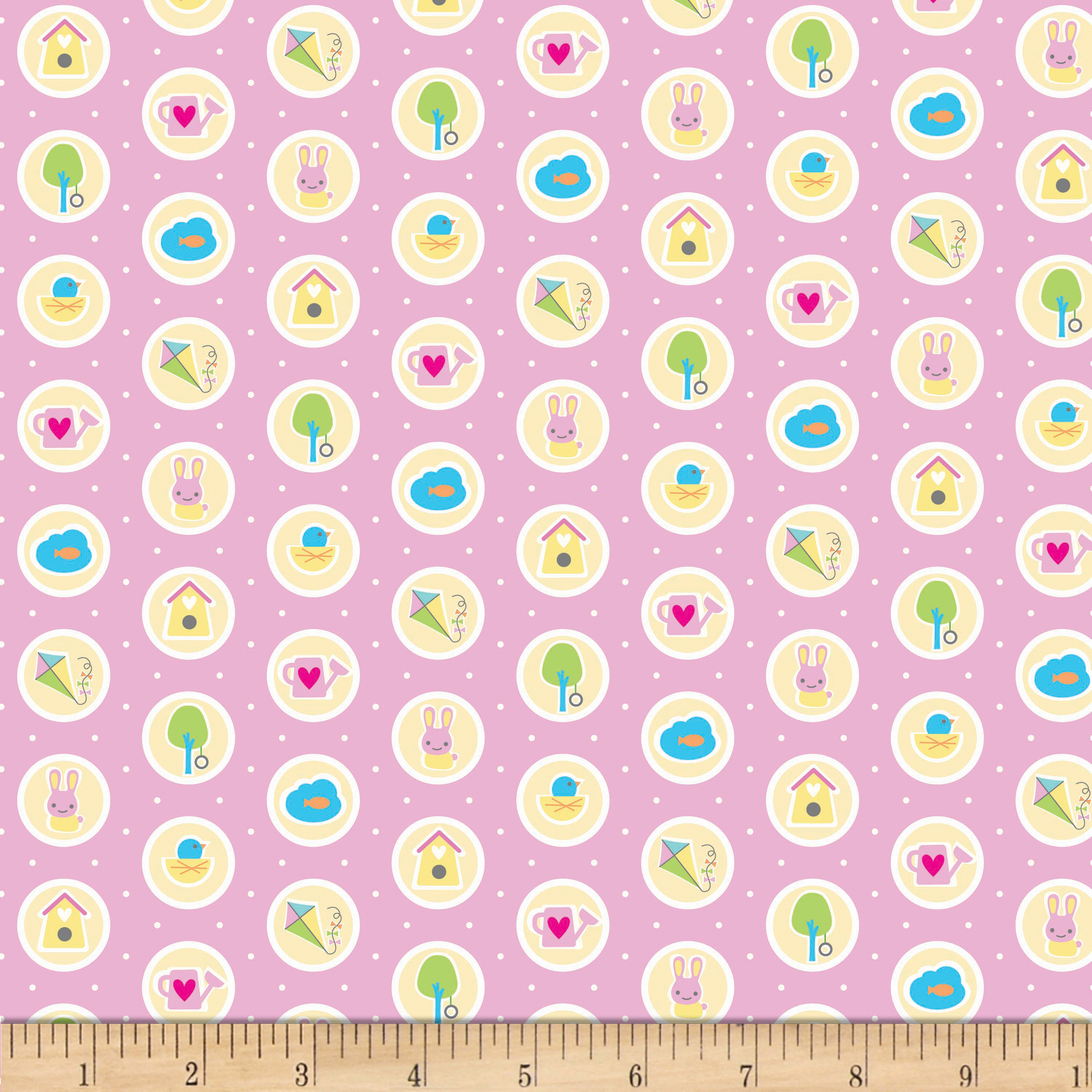 Riley Blake Sweet Home Spots Pink Fabric