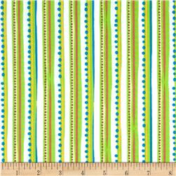 Corduroy Bear Stripe Green