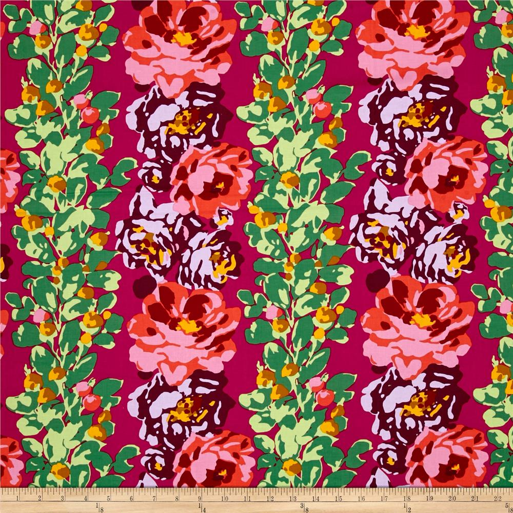 Amy Butler Eternal Sunshine Rose Vine Wine Fabric By The Yard