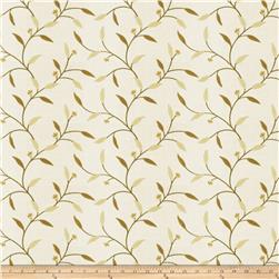 Fabricut Rudd Leaves Applique Citrine